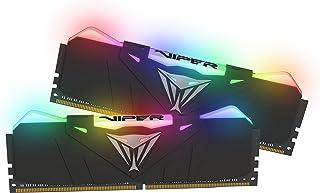 Patriot Viper Gaming RGB Series DDR4 DRAM 4133MHz 16GB Kit - Black - RGB Color Profiles