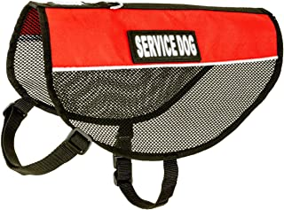 barkOutfitters Service Dog Vest Cool Red Mesh Harness