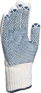 Venitex Men's 2 X Safety Work Gloves With PVC Dots Ideal For Carrying