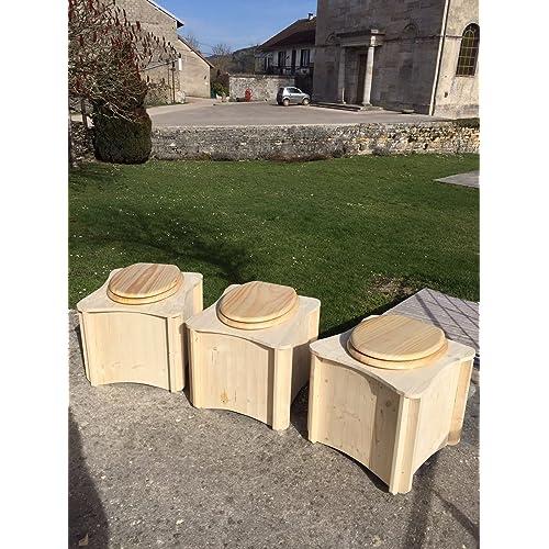 Toilettes sèches en bois, Toilette sèche portable intérieure - Fabrication Française