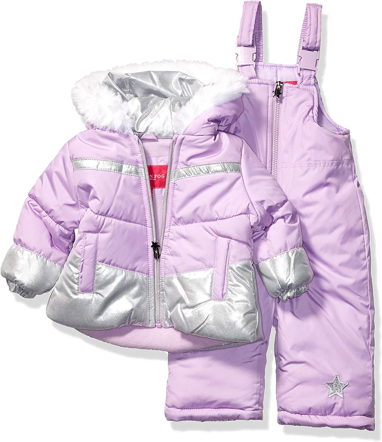 mart Direct stock discount LONDON FOG Girls' Snowsuit with and Jacket Puffer Snowbib