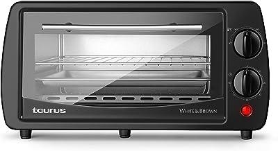 Taurus Horizon 9 - Four posable électrique 800W, 9L, Minuterie 30 min, 3 modes de cuisson, Double vitrage, Comprend une gr...