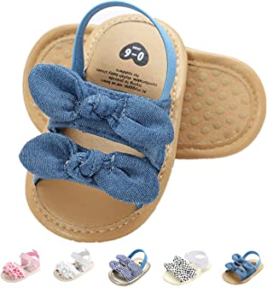 ABC KIDS Child Toddler Girls Breathable Sandals Anti-Slip Butterfly Decor Soft Soled Velcro Sandals Gold