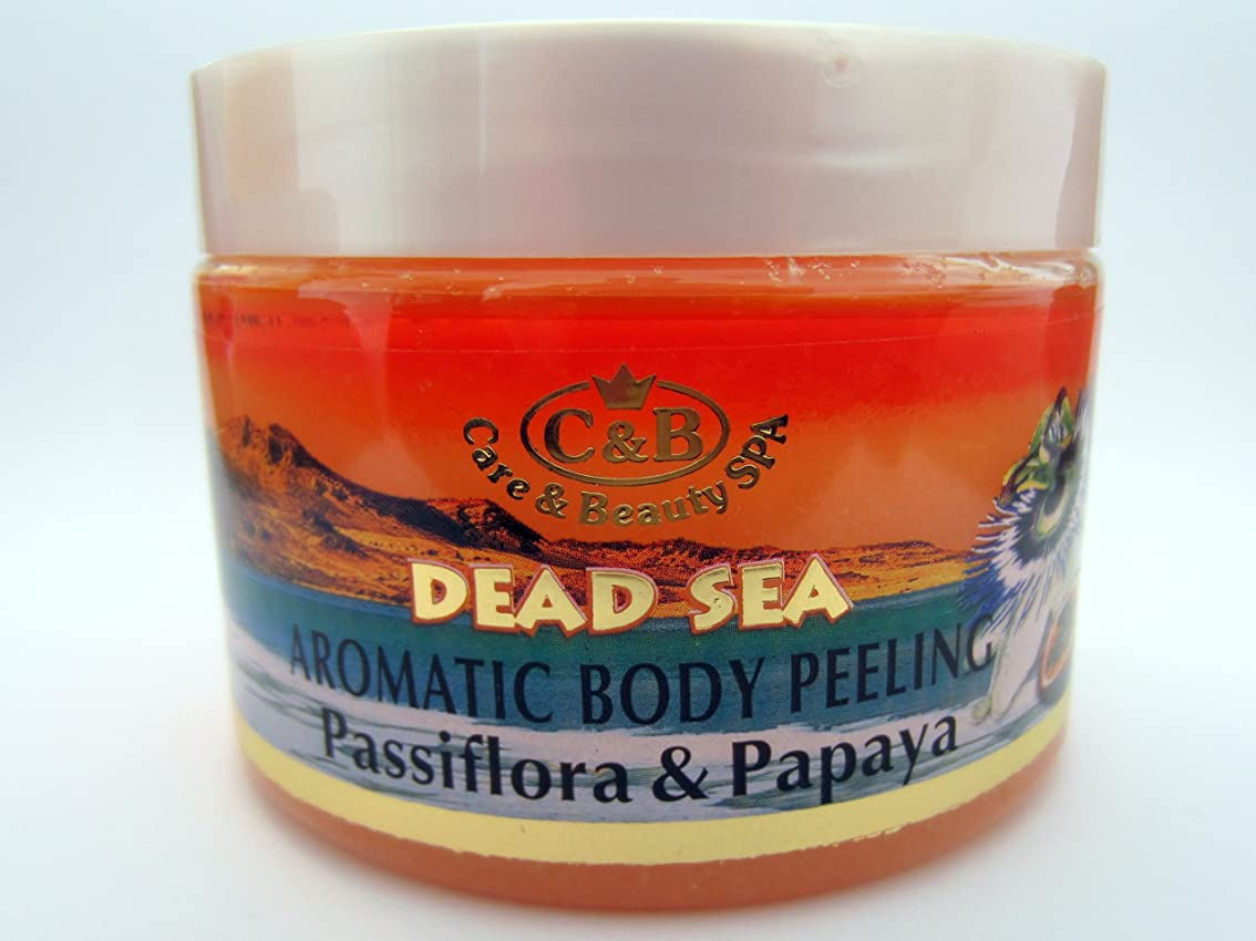 コピーサーフィンために死海産ミネラル はがしマスク 300mL イスラエル製 美容 体の皮膚擦り込み 全皮膚タイプ ビタミンミネラル お顔のお手入れ用 (Passionflower – Papaya Body Peeling)