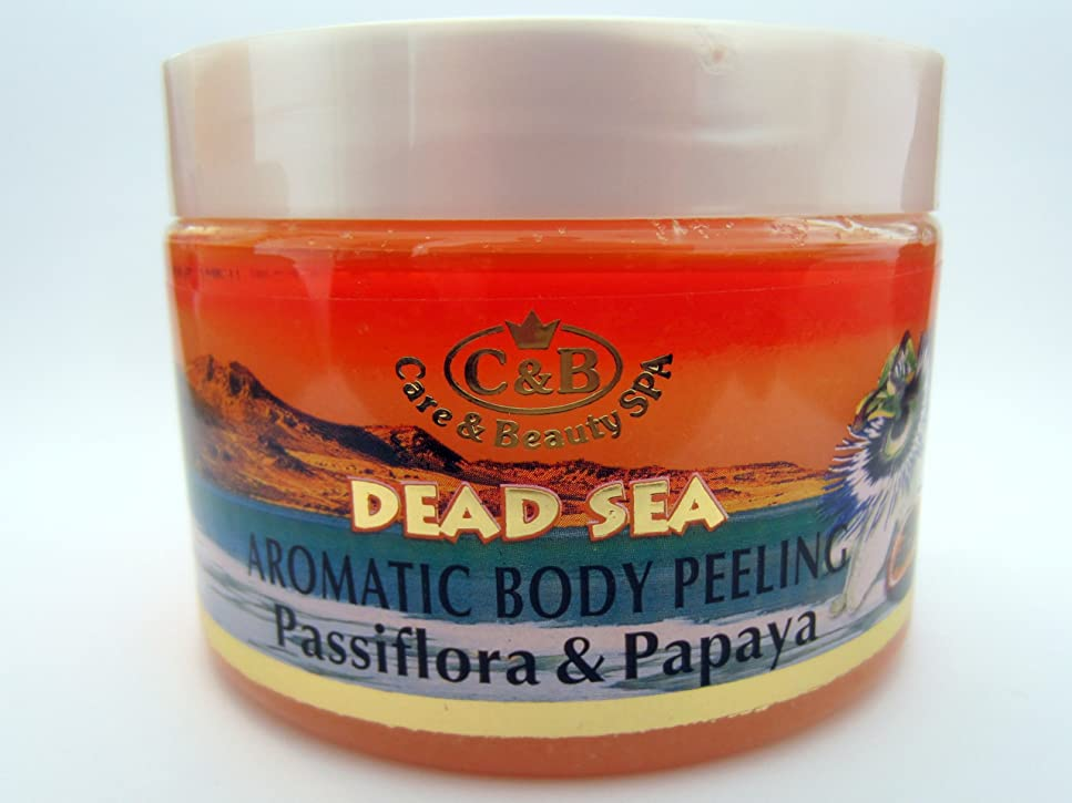 スパーク近々置換死海産ミネラル はがしマスク 300mL イスラエル製 美容 体の皮膚擦り込み 全皮膚タイプ ビタミンミネラル お顔のお手入れ用 (Passionflower ? Papaya Body Peeling)
