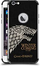 Official HBO Game of Thrones Stark House Mottos Black Shockproof Fender Case Compatible for iPhone 6 Plus/iPhone 6s Plus
