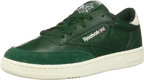Reebok Hommes's Club C 85 Walking chaussures, TRC-Dark vert Chalk, 4.5 M US
