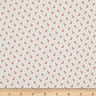 Marcus Brothers Aunt Grace Backgrounds Flower Bud Fabric, Pink, Fabric By The Yard
