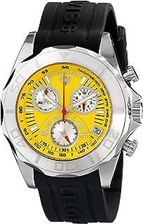 Swiss Legend Men's 18010-07 Men's Tungsten Chronograph Black Band Yellow Dial Watch