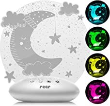 """reer 52121 ColourLumy """"maan"""" nachtlampje voor kinderen met acrylglas schijf, kleurverandering, drie helderheidsniveaus, ti..."""