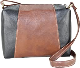 Fargo Motley PU Leather Women's & Girl's Cross Body Side Sling Bag (Brown,Black_FGO-093)