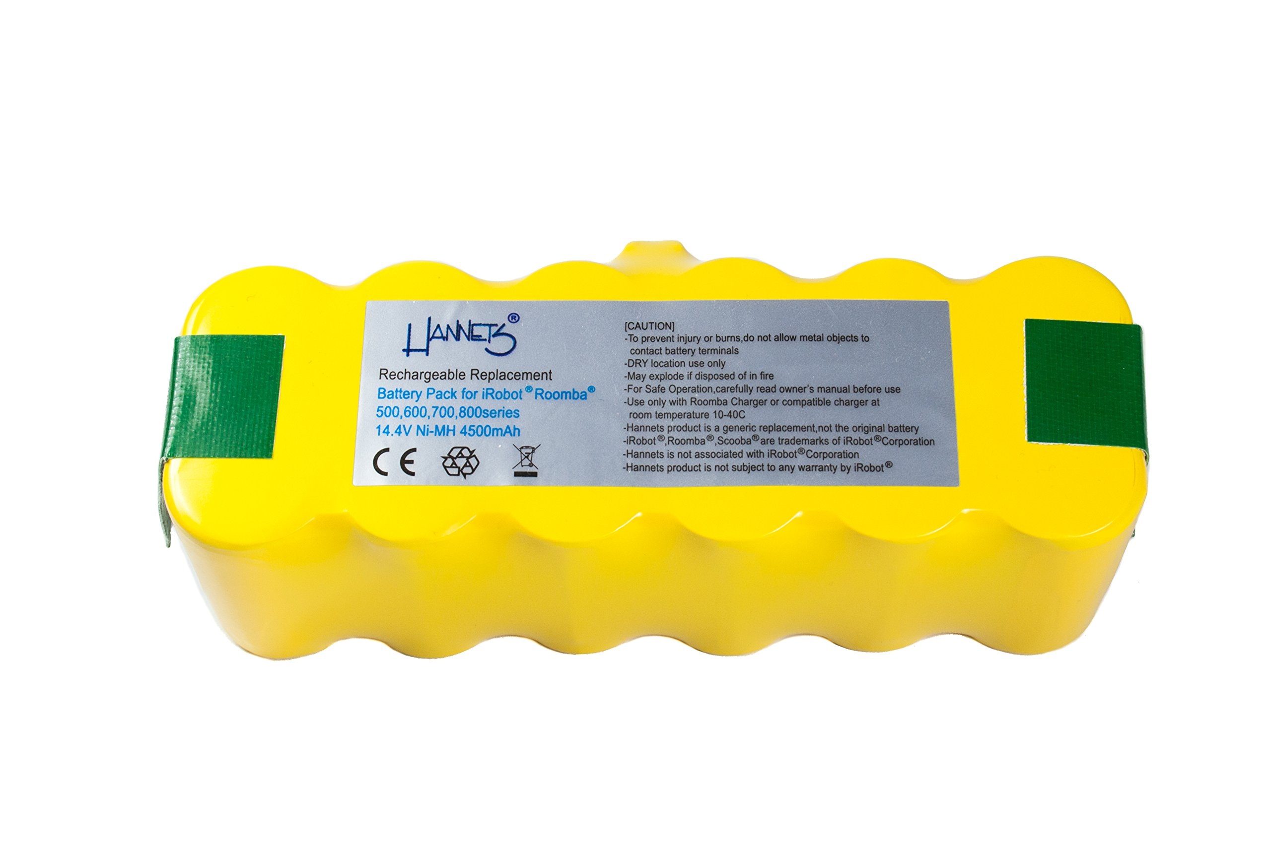 Batería Hannets® compatible con iRobot Roomba 630 I Batería i-Robot Batería Roomba Batería Aspiradora robotizada I Roomba 630 Accesorios 4500mAh Batería Robot de succión Batería de repuesto 14,4 V: Amazon.es: Electrónica