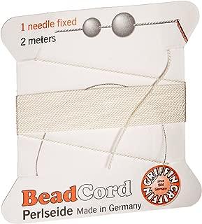 Griffin Beading Silk Cord & Needle White Size 2