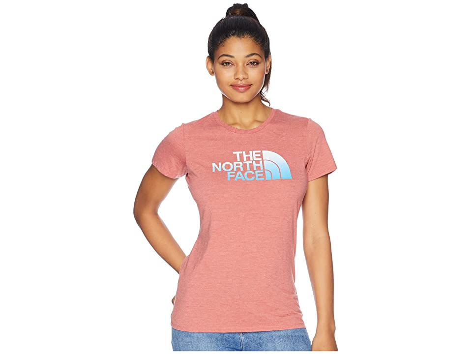 The North Face 1/2 Dome Tri-Blend Crew Tee (Faded Rose Heather) Women