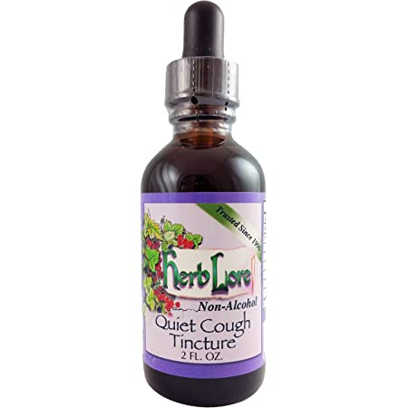 Quiet Cough Tincture - Natural Cough Medicine for Kids & Adults - Baby Cough Syrup - Childrens Herbal Cough Suppressant & Chest Congestion Relief - Mucus Expectorant - 2 Ounces - Herb Lore