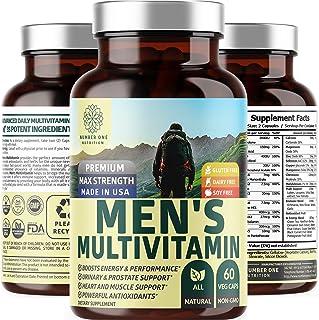 N1N Daily Multivitamin for Men, Premium Multimineral Supplement - Vitamins A C E D B1 B2 B3 B5 B6 B12. Magnesium, Zinc, Bi...