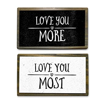 love your love the most handmade rustic decor sign.