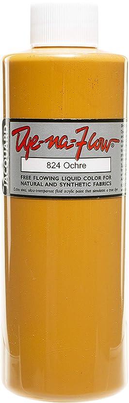 Jacquard Dye-Na-Flow Fabric Color - Ochre, 8 oz Bottle