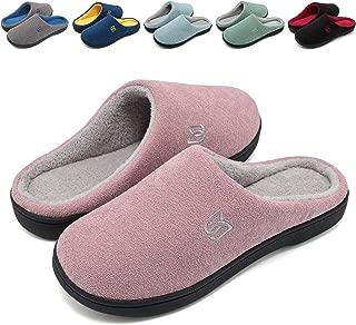 Women's Men's Comfort House Slippers Memory Foam Cotton Slippers House Shoes Slip On Indoor Outdoor