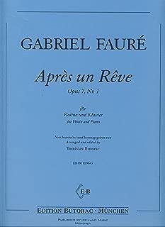 FAURE - Apres un Reve para Violin y Piano (Butorac)