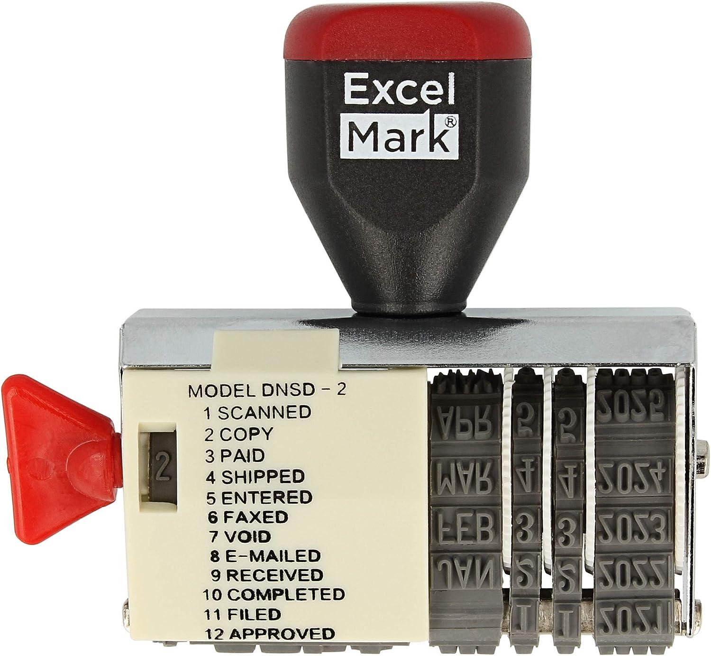 ExcelMark 12 Elegant Phrase Stamp Rubber Dater Kansas City Mall
