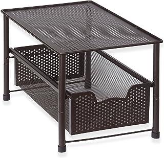 Simple Houseware Stackable Under Sink Cabinet Sliding Basket Organizer Drawer, Bronze