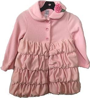Mack & Co. Girls Fleece Ruffle Coat Jacket (Light Pink, 3)