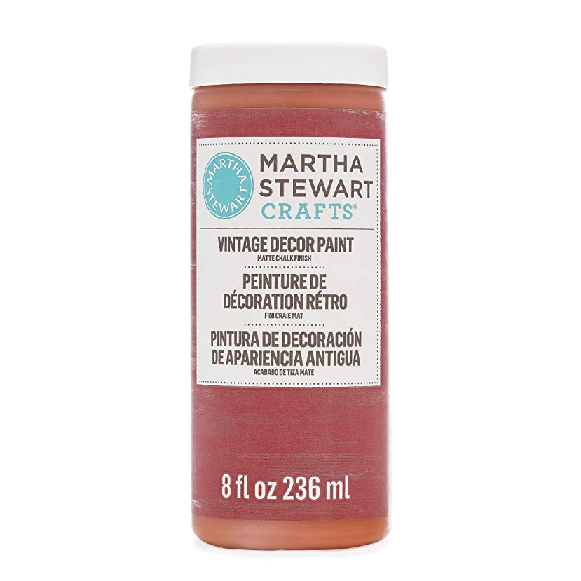 Martha Stewart Crafts 33529 Martha Stewart Vintage Decor Matte Chalk Red Wagon, 8 oz Paint,