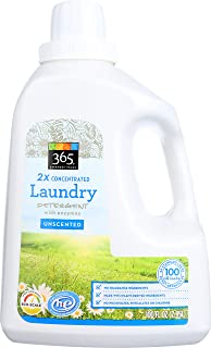 365 Everyday Value, Laundry Detergent with Enzymes 2X Concentrated , Unscented, 100 fl oz