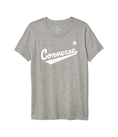 Converse Nova Center Front Logo Tee (Vintage Grey Heather) Women