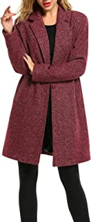 Zeagoo Winter Blended Coat Women Casual Long Pea Coat Trench Button Cardigan Pockets