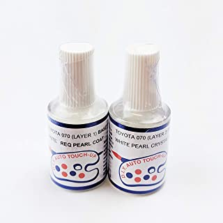 O7O White Pearl Crystal REQ Base & Coat Touch Up Paint for Toyota Corolla Camry RAV-4 Yaris
