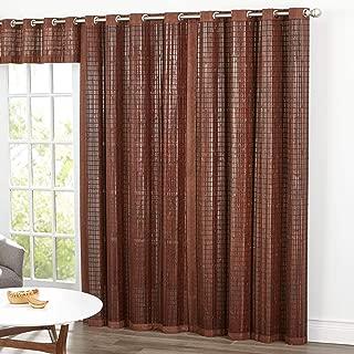 BrylaneHome Bamboo Grommet Panel - Mahogany Brown, 42I W 84I L