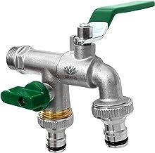 -Schlauch 21 mm 1//2 7330-20 GARDENA Wasserhahn mit Schlauchverschraubung: Verchromter Wasserkran f/ür Innen /& Au/ßen G 1//2 -Gewinde f/ür 13 mm