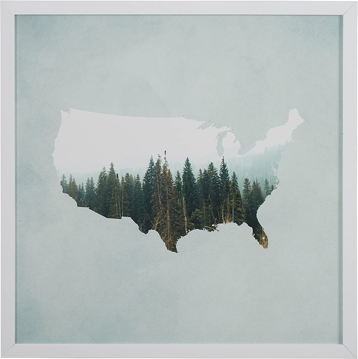 Japan's largest assortment Amazon Brand – Rivet American Forest White in Art Print Wall Limited time for free shipping Map