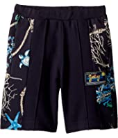 Versace Kids - Shorts w/ Sea Shore Design on Sides (Big Kids)