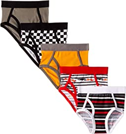 Trimfit - 5-Pack Race Car Cotton Tagless Briefs (Toddler/Little Kids/Big Kids)