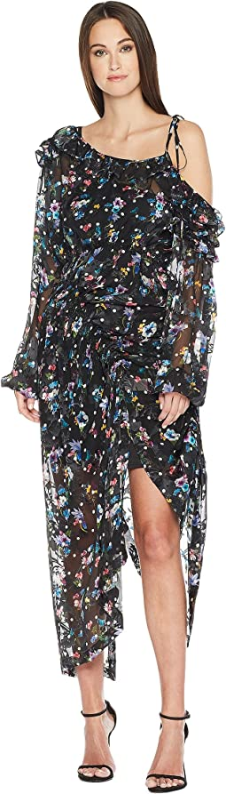 Preen by Thornton Bregazzi Cosmos Dress w/ Black Jersey Slip