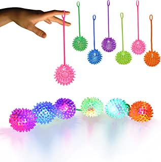Windy City Novelties LED Jelly Spike YoYo Balls-12 Pack