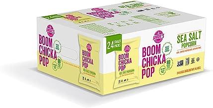 Angie's BOOMCHICKAPOP Sea Salt Popcorn, 0.6 Ounce Bag (Pack of 24)