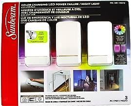 Sunbeam SunbeamLed3pk SunbeamLedLight Night Light 3 Pk White New