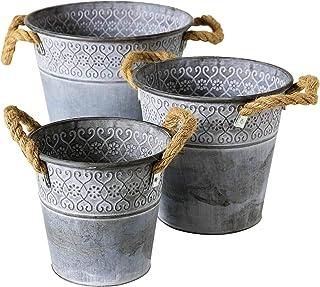 Decorative Plant Pot Carlson Metal Zinc Planter Zinc Tub Zinc Pot Vintage 37cm