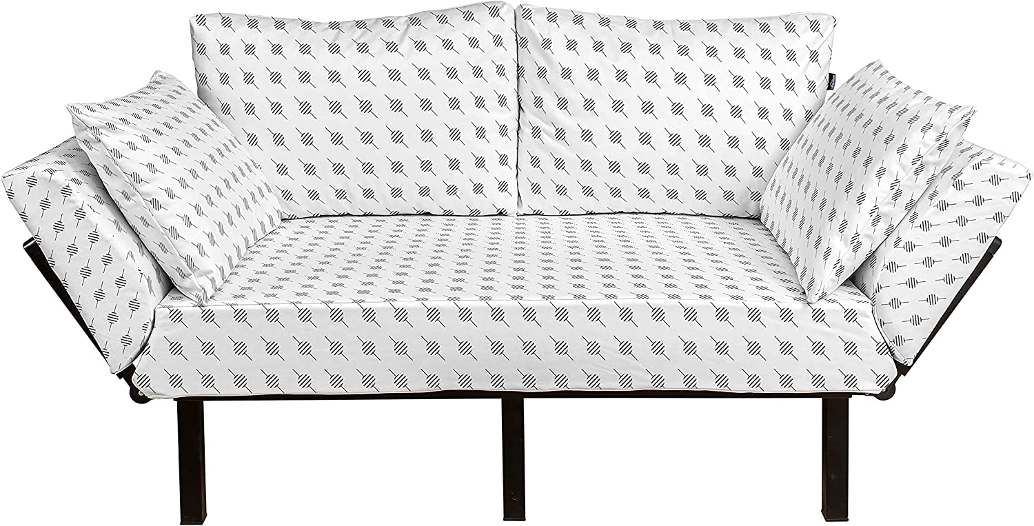 Lunarable Geometric Futon Couch Modern O Max 60% OFF with Time sale Minimalist Design