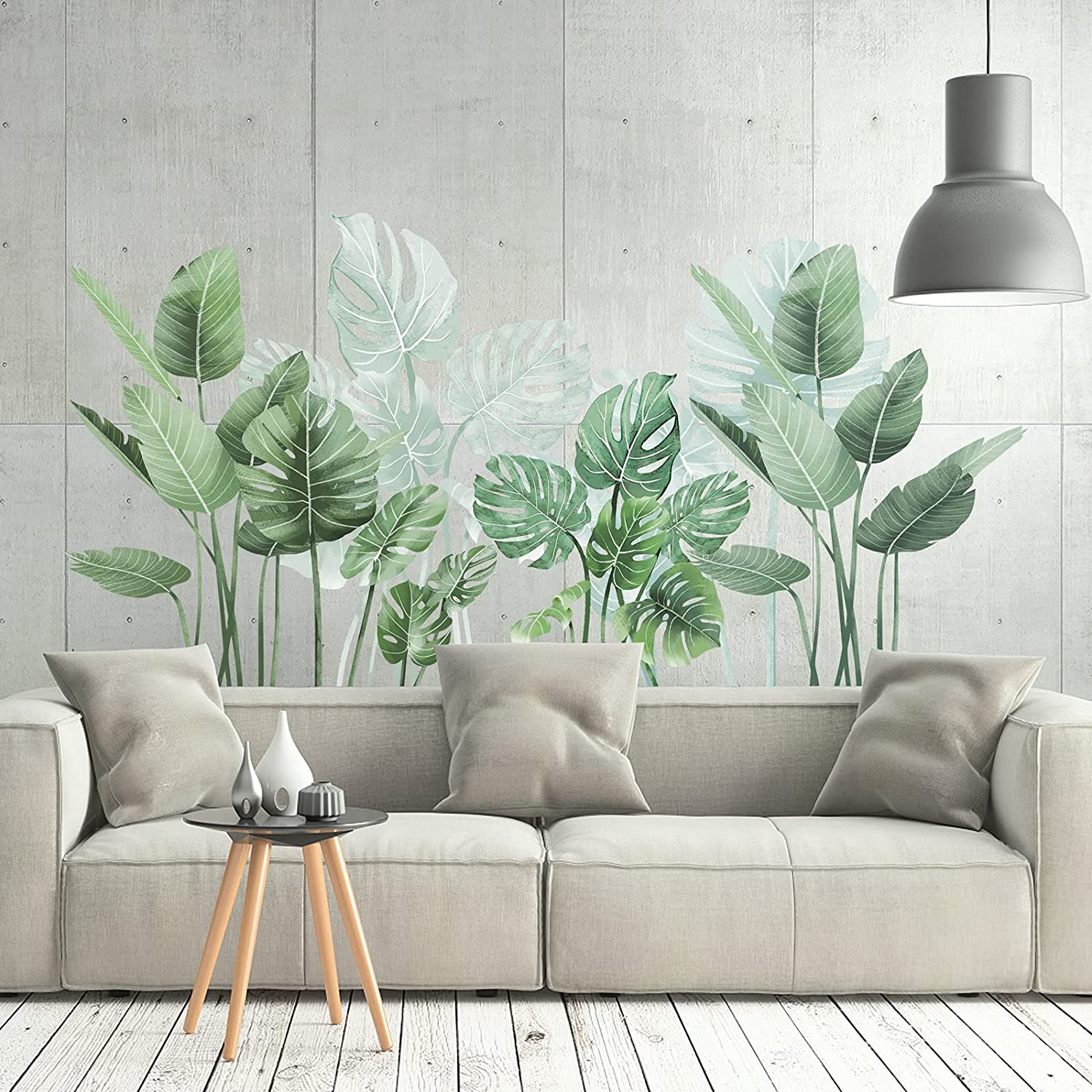 Tropical Green Plants Leaf Wall Max 84% OFF Stickers Store Removable Natu ULENDIS