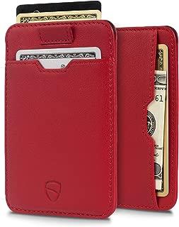 CHELSEA ultra-slim RFID-blocking luxury leather card wallet (Carmine Red)