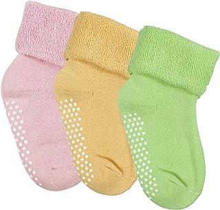 Calcetines Antideslizantes para Bebe Niño de Invierno Algodón 3 Pares Calcetines Antideslizantes Niña Suave