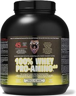Healthy 'n Fit 100% Whey Pro Am, Vanilla ice Cream Flavor 5-Pound Bottle Tub