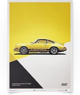 Automobilist Porsche 911 RS - Yellow - Unique Design Limited Edition Poster - Standard Poster Size 19 ¾ x 27 ½ Inch