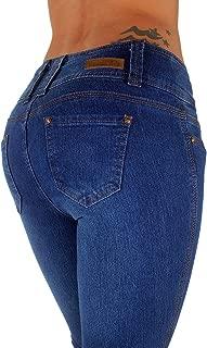 Plus/Junior Colombian Design Mid Waist Butt Lift Levanta Cola Skinny Jeans