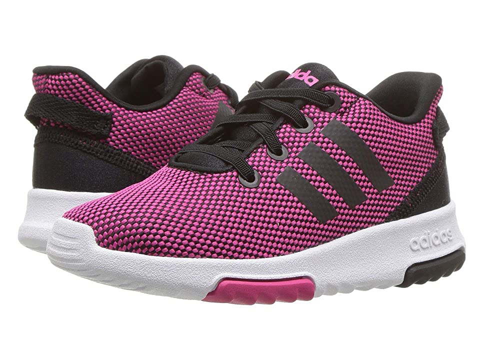 adidas Kids Cloudfoam Racer TR (Infant/Toddler) (Real Magenta/Black/Real Magenta) Kids Shoes